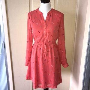 MODCLOTH Wishbone dress. Beautiful coral chiffon